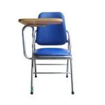 Ghế gấp có mặt bàn, khung sơn/mạ, mặt ngồi và tựa bọc da PVC